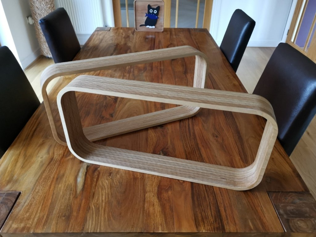 Modern Curved Shelved | Natural Colour
